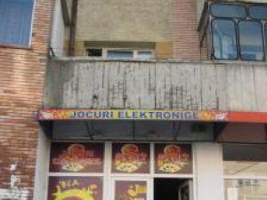 Sala de jocuri din cartierul Obcini, în care s-ar fi petrecut jaful