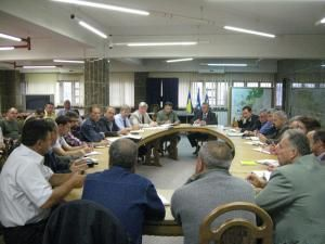 Comandamentul săptămânal, care are loc la Primăria Suceava, cu toate părţile implicate în această acţiune