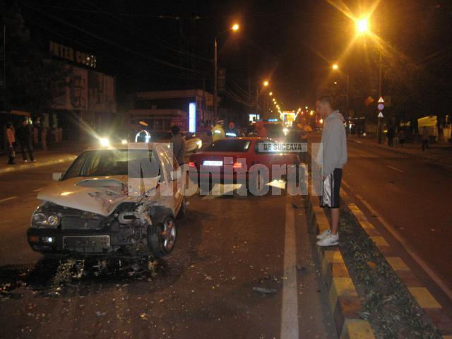 Accidentul s-a produs marţi seară, pe porţiunea de drum din faţa Shopping City Suceava