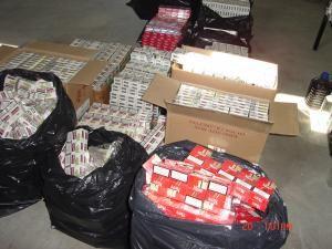 Ţigările de contrabandă, confiscate