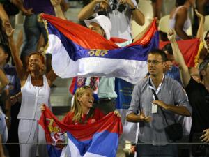 Suporterii sârbi îşi vor încuraja echipa. Foto: MEDIAFAX