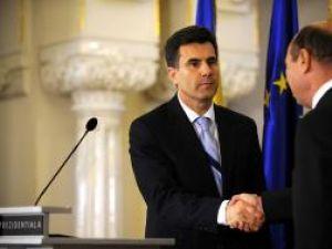 Premierul desemnat, Lucian Croitoru, alături de preşedintele Băsescu. Foto: MEDIAFAX