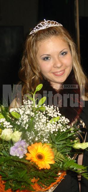 """Miss """"Ştefan cel Mare"""" 2009 - Patricia Coşman, din  clasa a IX-a A"""