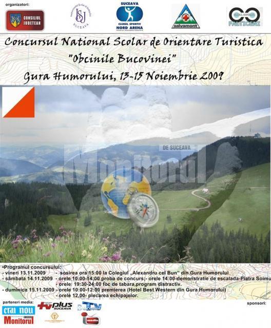 13-15 noiembrie: Concursul naţional de orientare turistică Obcinile Bucovinei, la Gura Humorului