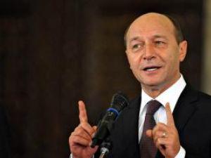 """Traian Băsescu: """"Eu mi-am câştigat existenţa greu, n-am stat în şedinţe de partid la uscat"""". Foto: MEDIAFAX"""