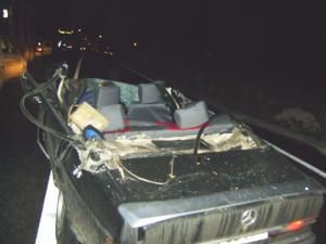 Aşa arată după accident maşina hunedoreanului