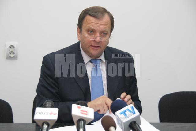 Gheorghe Flutur a afirmat că de la preluarea mandatului de preşedinte al CJ Suceava s-a reuşit promovarea a 321 de proiecte cu fonduri guvernamentale şi europene