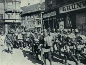 Trupele române ocupă Budapesta - 1919