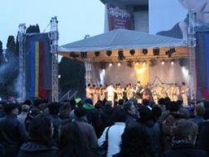 În centrul Sucevei: Spectacol folcloric extraordinar, de Ziua Natională a României