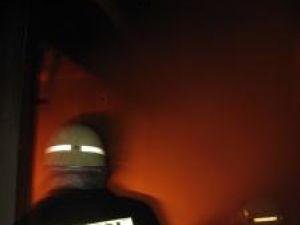 La sosirea pompierilor, flăcările înghiţiseră acoperişul casei