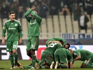 Dinamo, învinsă de formaţia elenă Panathinaikos Atena. Foto: MEDIAFAX Foto/AFP