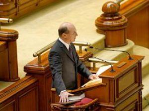 Preşedintele Traian Băsescu a depus, ieri, jurământul în faţa Parlamentului. Foto: MEDIAFAX