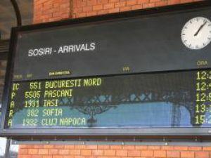 Majoritatea trenurilor au circulat cu întârzieri de aproximativ o oră