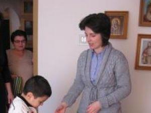 Andrei, împreună cu mami Adriana şi Mama Floarea