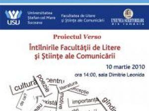 Proiectul Verso: Întâlnirile Facultăţii de Litere şi Ştiinţe ale Comunicării