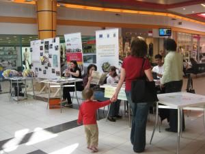 Vizitatorii analizează oferta ONG-urilor