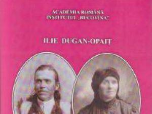 """Pagina de carte: Ilie DUGAN-OPAIŢ: """"Familia Dugan din Cireş-Opaiţeni"""""""