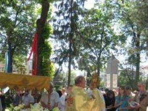 Procesiune în jurul Bisericii romano – catolice din Suceava