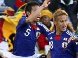 Japonezul Keisuke Honda (foto mijloc) a fost desemnat jucatorul meciului