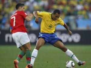 Brazilia a terminat la egalitate, scor 0-0, meciul disputat, vineri, pe Durban Stadium, în compania Portugaliei, în ultima etapă a grupei G