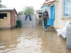 Şapte gospodării au fost inundate la Boroaia
