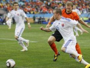 Reprezentativa Olandei s-a calificat în sferturile de finală ale Cupei Mondiale, după ce a învins  selecţionata Slovaciei