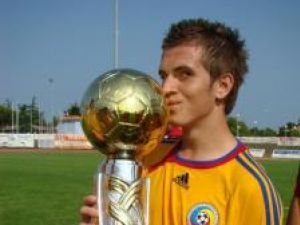 Tibi Serediuc, în tricoul echipei naţionale de juniori