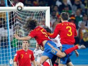 Puyol a înscris golul care a dus Spania în prima finală mondială, iar bucuria a fost fără margini