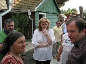 Roberta Anastase a fost însoţită de preşedintele CJ Gheorghe Flutur şi deputatul PD-L Ioan Bălan