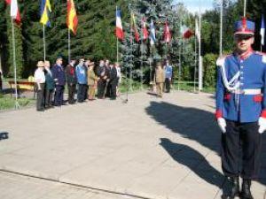 Ceremonia publică de intonare a imnului naţional în centrul Sucevei