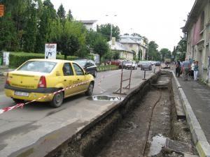 Pe strada Mihai Viteazul, ieri nici măcar nu se lucra