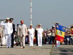 Manifestările dedicate Zilei Marinei au început pe faleza din faţa Comandamentului Flotei din Constanţa Foto: MEDIAFAX