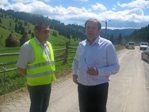 Gheorghe Flutur a inspectat lucrările la drumul Panaci - Bilbor