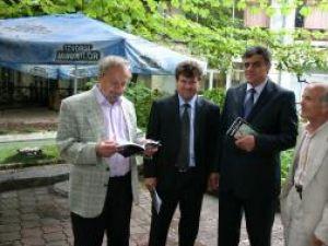 Delegaţia suceveană la Chişinău: Ion Beldeanu, Mihai Chiriac, Ioan Pavăl şi Mihai Vicol