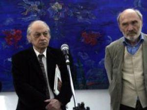 Criticul de artă Dan Hăulică împreună cu Constantin Flondor
