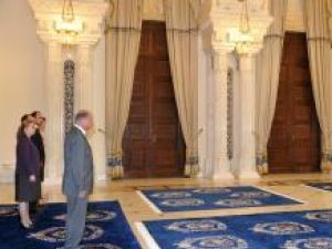 Martin Harris a venit la Palatul Cotroceni îmbrăcat în kilt. Foto: Sorin LUPŞA
