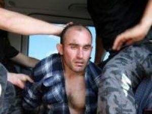 Nicolae Florentin Muscă, la câteva minute după ce a fost prins