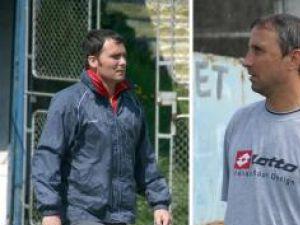 Bogdan Grosu (stânga) a fost preferat de conducerea AJF drept antrenor al selecţionatei Under 16 Suceava în detrimentul lui Florin Cristescu (dreapta)