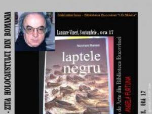 """Lansare de carte: Norman Manea: """"Laptele negru"""""""