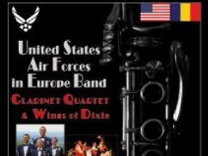 Concert extraordinar: Cvartetul de clarinete şi Ansamblul The Wings of Dixie, din cadrul Orchestrei Forţelor Aeriene Americane staţionate în Europa