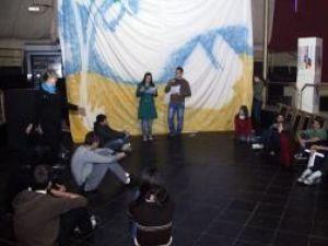 Ieri, organizatorii Balului Bobocilor erau în toiul repetiţiilor