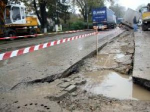 Zona a fost semnalizată abia după producerea accidentului