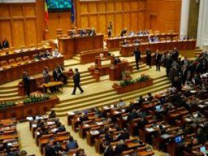 Şedinţa comună a Senatului şi Camerei Deputaţilor pentru dezbaterea şi votarea moţiunii de cenzură