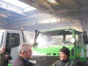 Primarul Sucevei, Ion Lungu, a verificat pregătirea Rosal pentru deszăpezirea străzilor