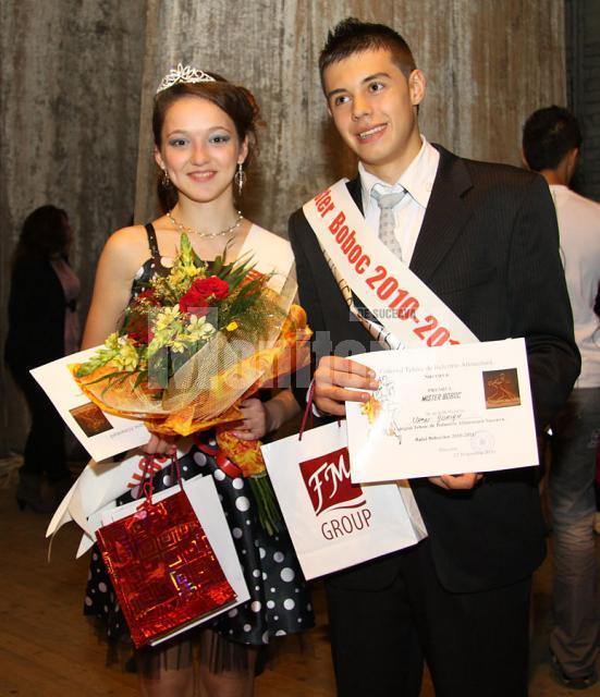 Anca Blîndu şi Adrian Ursu, Miss şi Mister Boboc 2010 la Alimentar