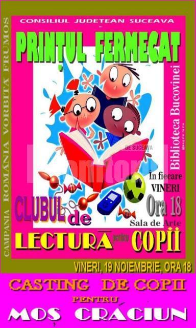 Biblioteca Bucovinei: Casting de copii pentru Moş Crăciun
