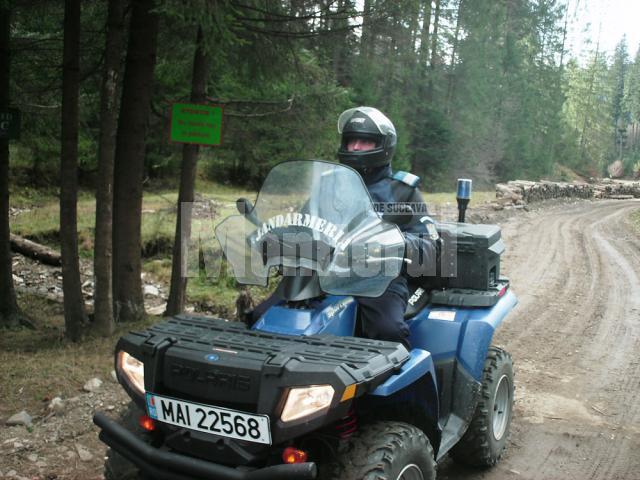 Doar patru ATV-uri, în dotarea jandarmilor din judeţ