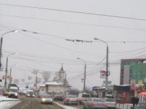 Utilajele de deszăpezire au acţionat la timp în centrul Sucevei