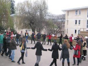 Studenţii au dansat Hora Unirii