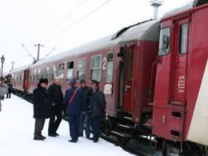 Tren blocat în Gara Suceava
